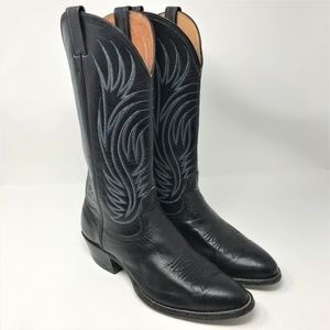 Nocona Black Leather Boots size mn 8  wn 9 1/2
